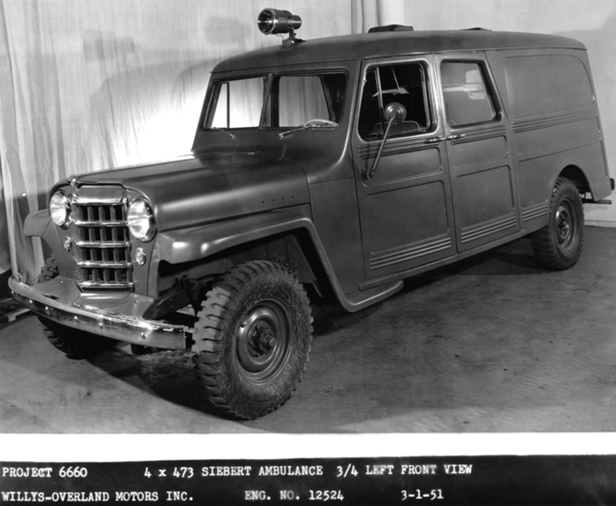 Willys Motors offered this ambulance model to the U.S. Military in the early 1950s. Some may have been purchased for Stateside use.