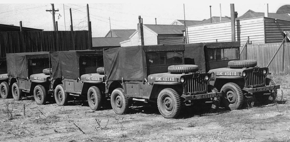"On the Pacific front, the jeep's capabilities as an ambulance were quickly recognized by the U.S. Marine Corps. The General Motors-Holden factory in Melbourne, Australia, modified Marine jeeps for dedicated ambulance use. Today, these specialized ambulances are referred to as ""Holden Jeeps."""