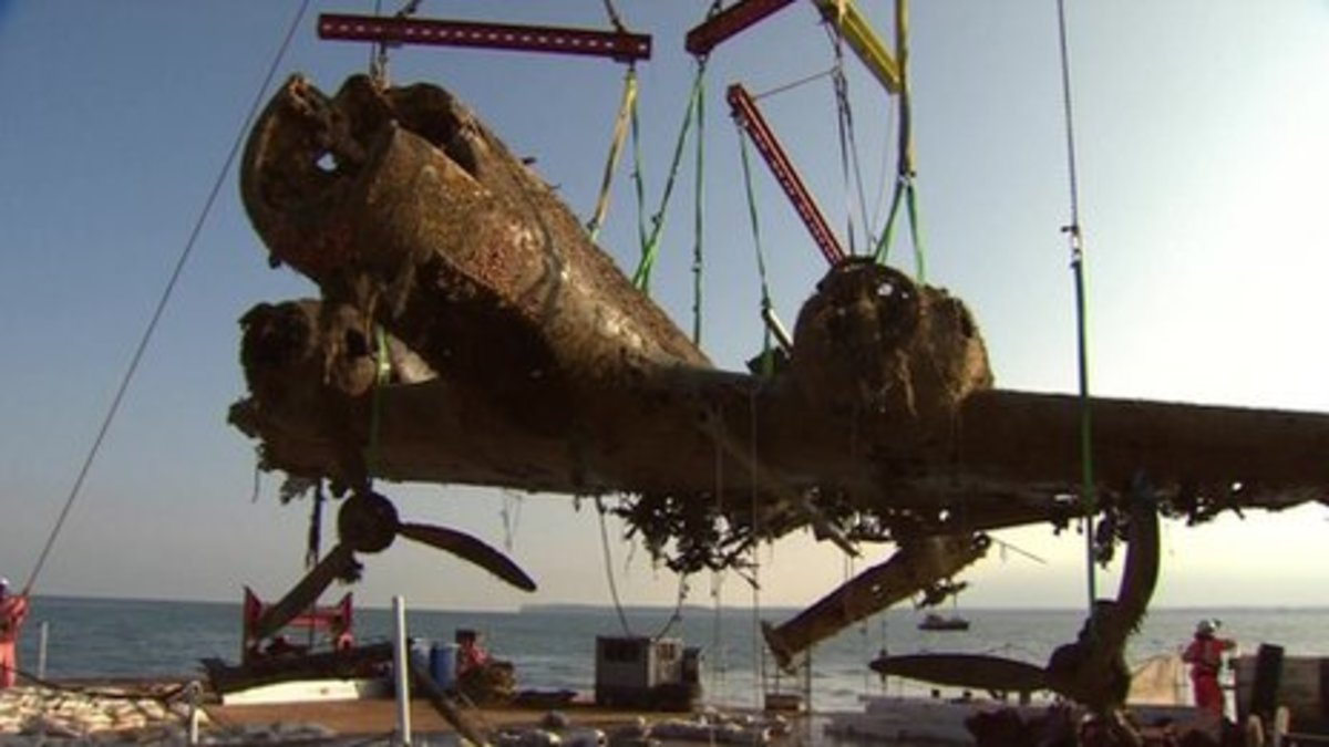 See video of the recovery courtesy of BBC News at