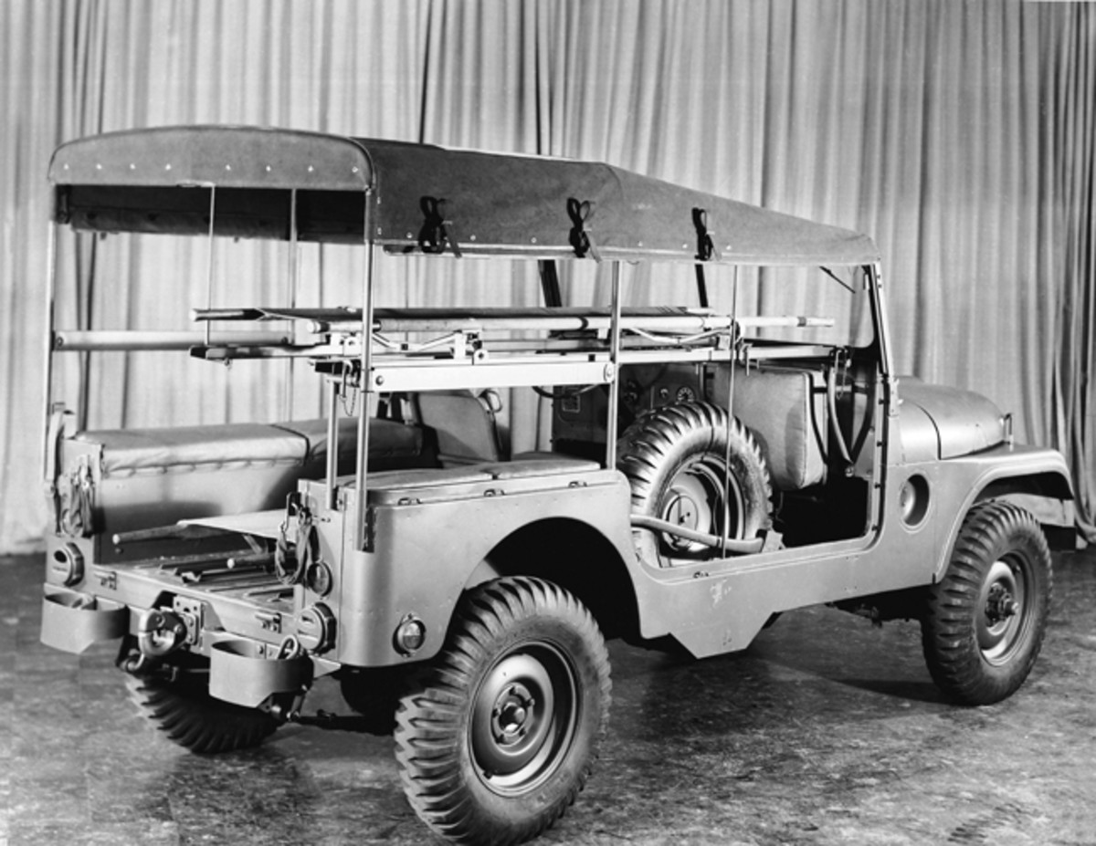 One of the most widely recognized post-WWII jeep ambulances is the M170. This jeep was later offered on the civilian market as the CJ6.