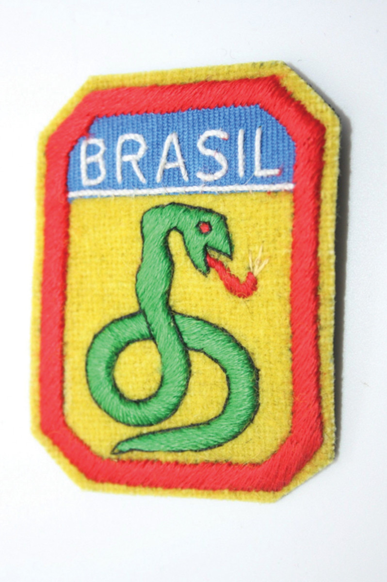 Patch worn by Brazilian Expeditionary Force during WWII