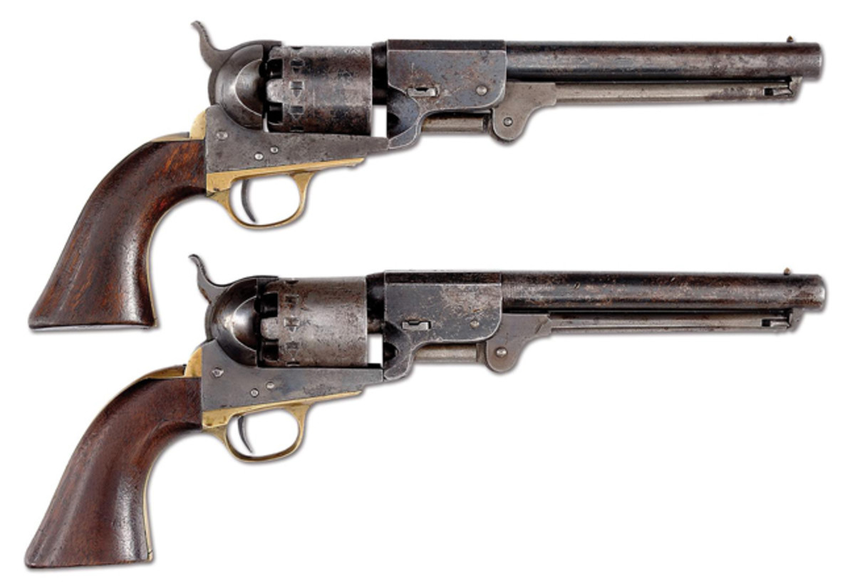 A pair of consecutively numbered Confederate manufactured pistols known, Rigdon & Ansley revolvers serial numbers 1774 and 1775