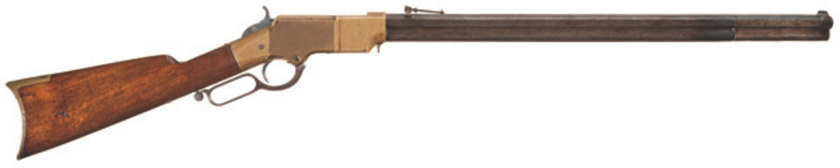 Lot 1, a New Haven Arms Henry lever action rifle brought in a sale price of $25,875.