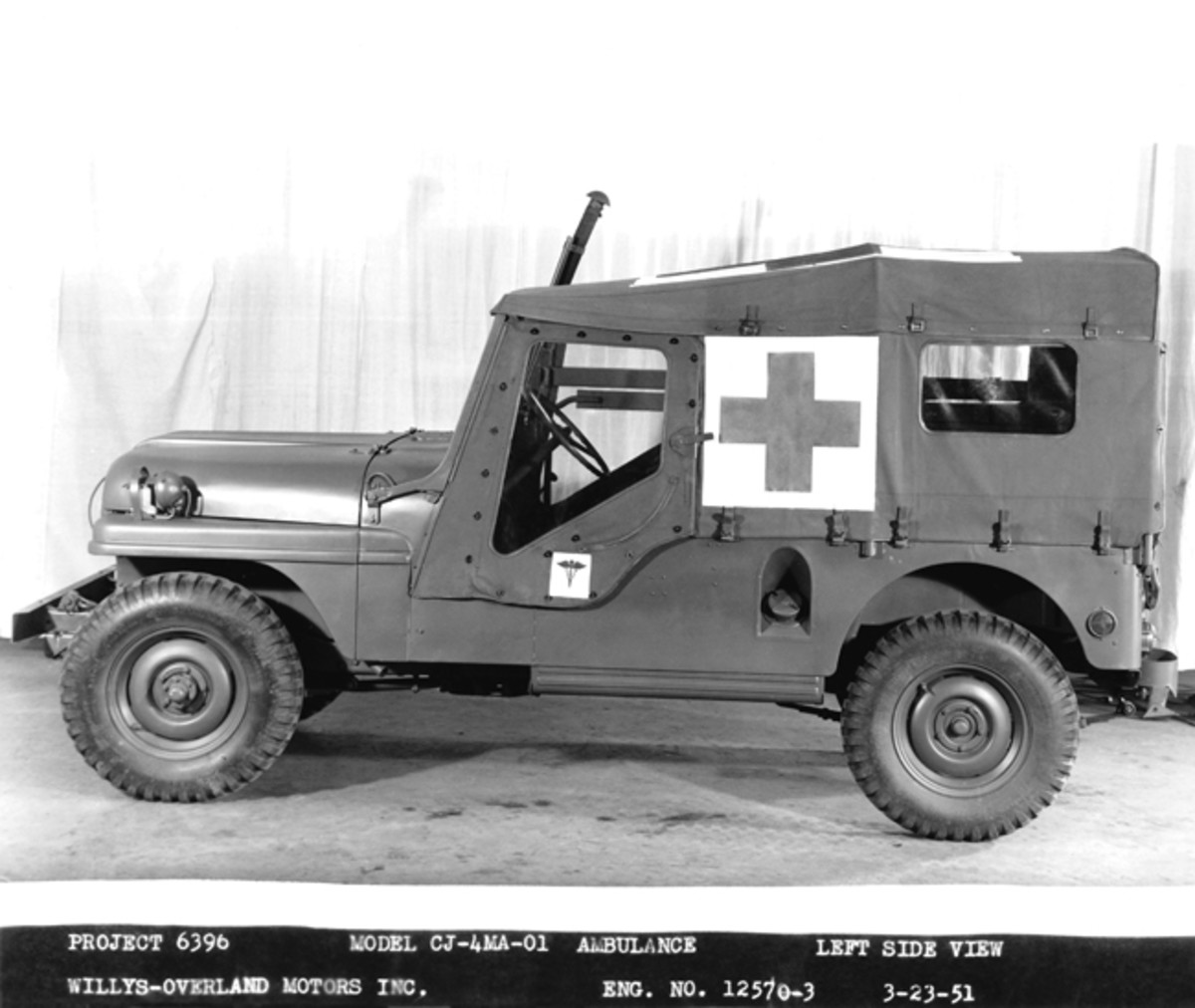 1951 Willys-Overland factory photo of what they referred to as the Model CJ-4MA-01.