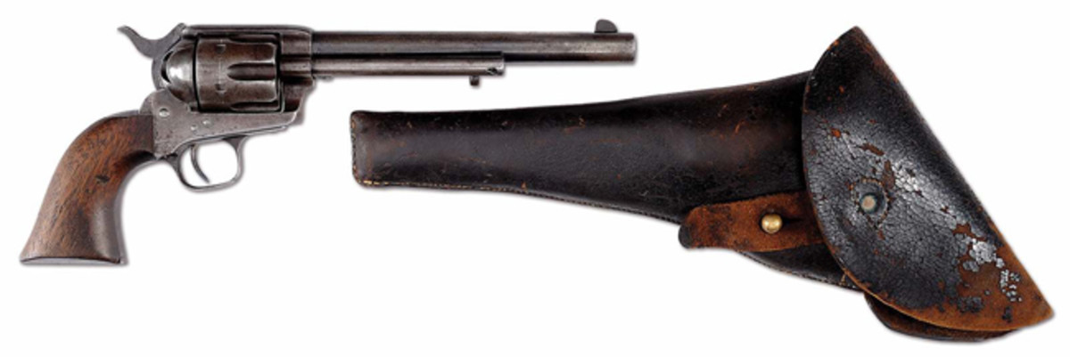 """Lot 6"" Custer-era Colt cavalry revolver with period holster"