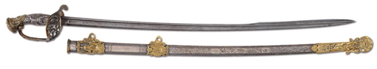 Staff Officer's sword presented to General George McClellan