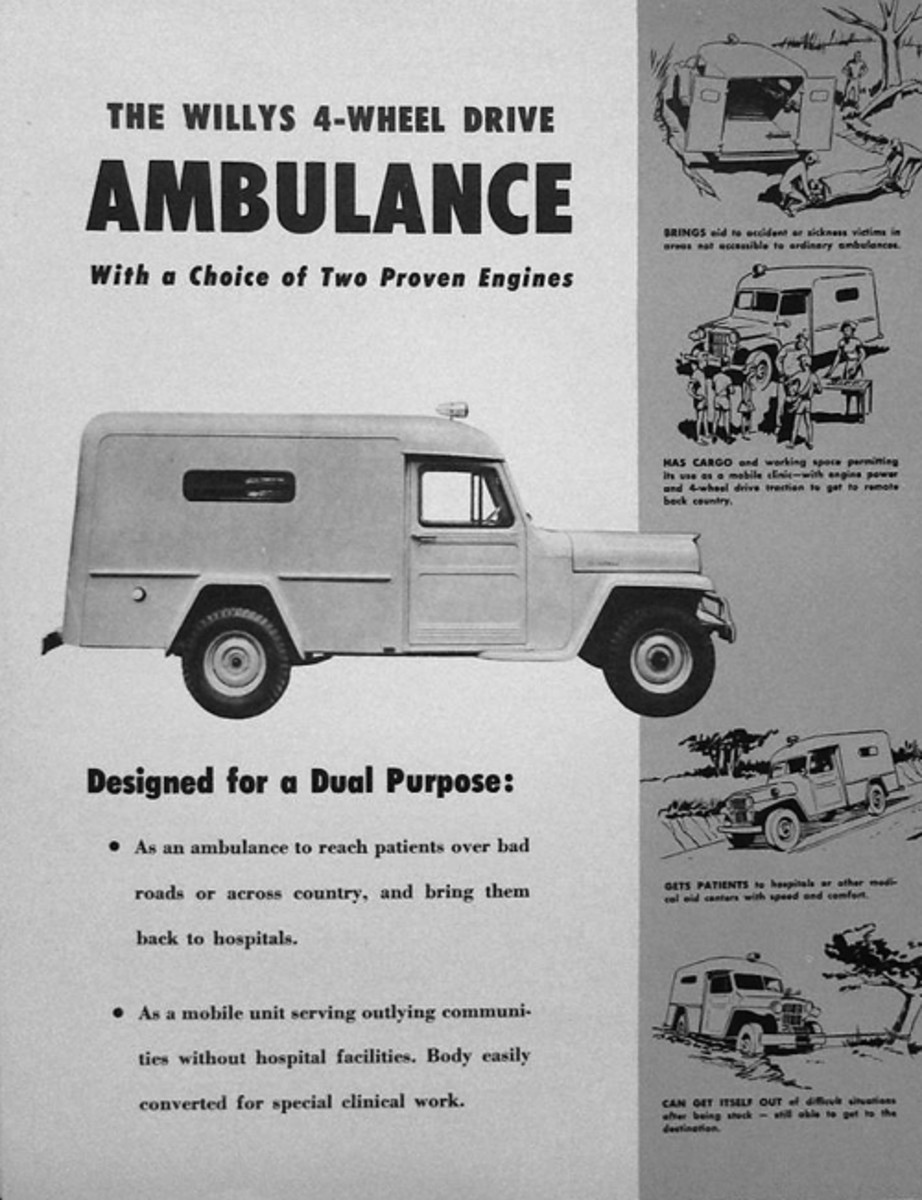 Willys Motors also offered their ambulance model to the civilian market.