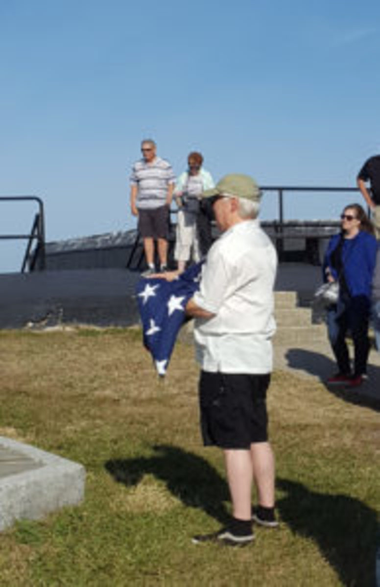 "I am the first to admit, I am not one of these ""experience over possessions"" types, but asked to hold the flag to raise above Fort Sumter, and I jumped at the opportunity!"