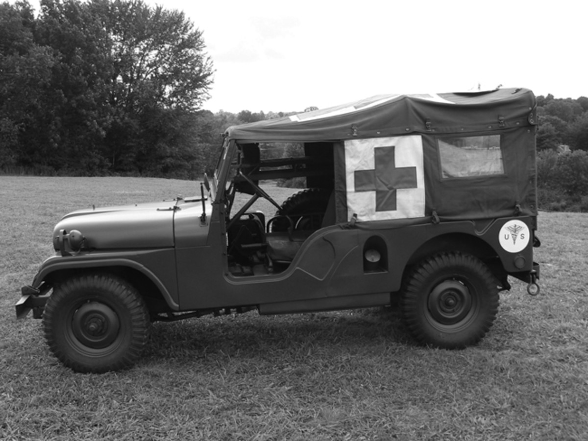 The M170 was 20 inches longer wheelbase than the M38A1 Though designed for use as an ambulance, several served as radio vehicles and even airfield taxis.