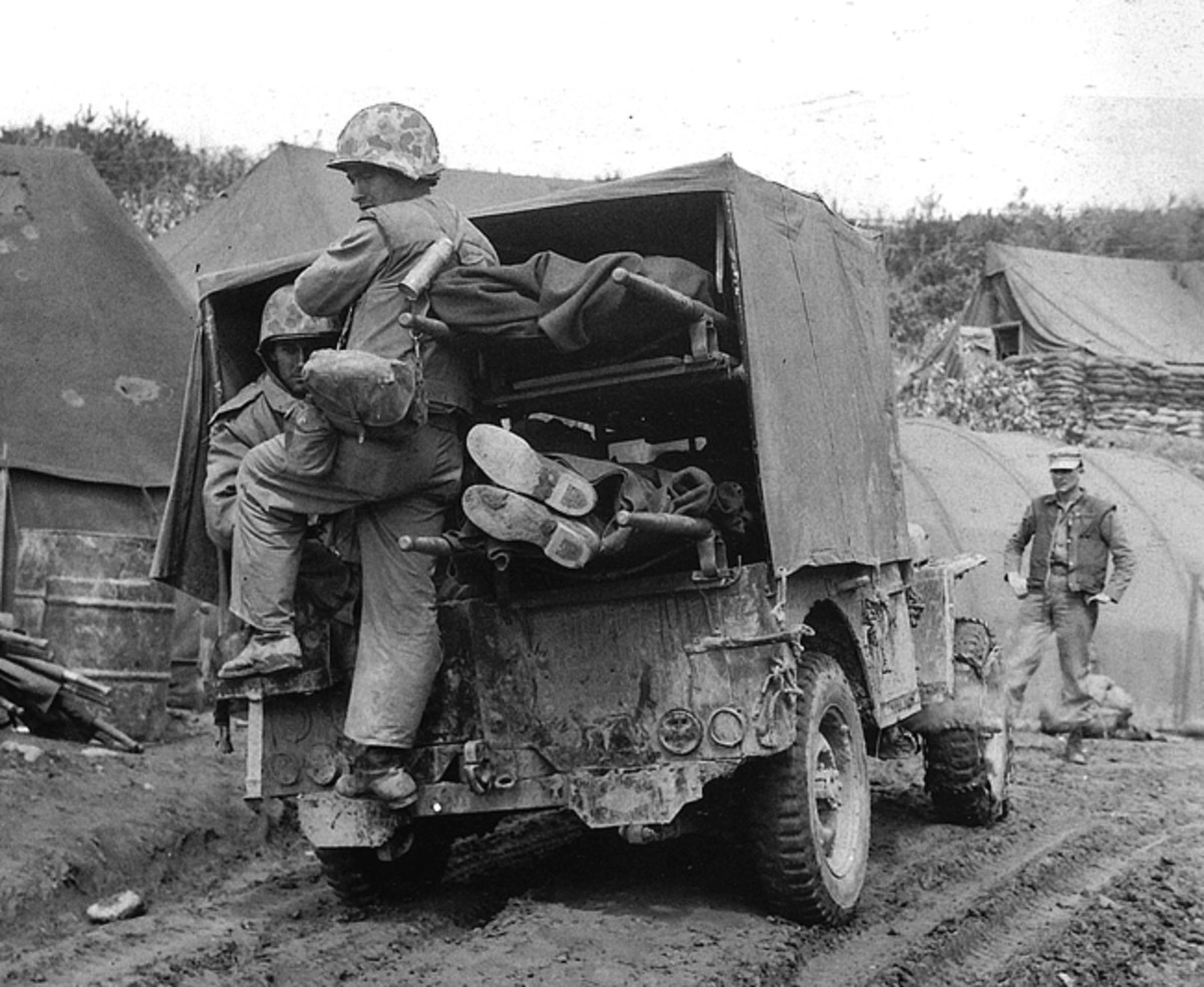 Holden jeeps were also employed in the Korean Conflict. Note the small door on the left side of the rear body panel.