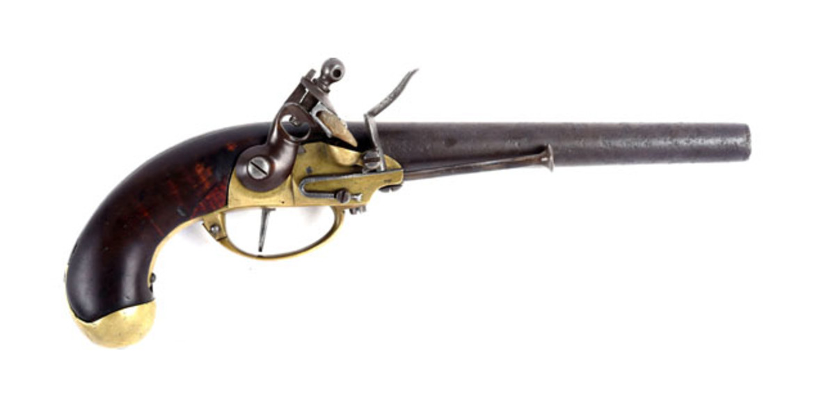 U.S. Model 1799 First Contract North & Cheney Flintlock Single Shot Martial Pistol, SN. 390