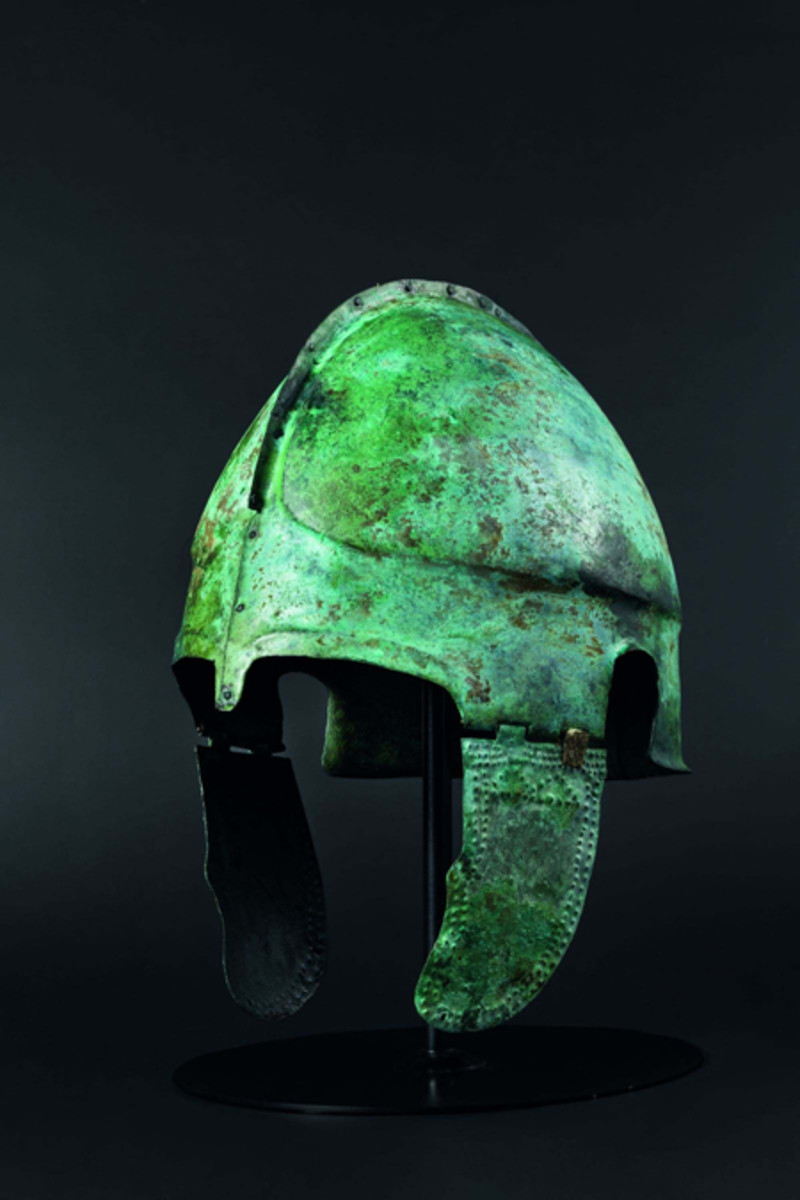 Rare variant of a Late Chalcidian helmet, early 4th century B.C.