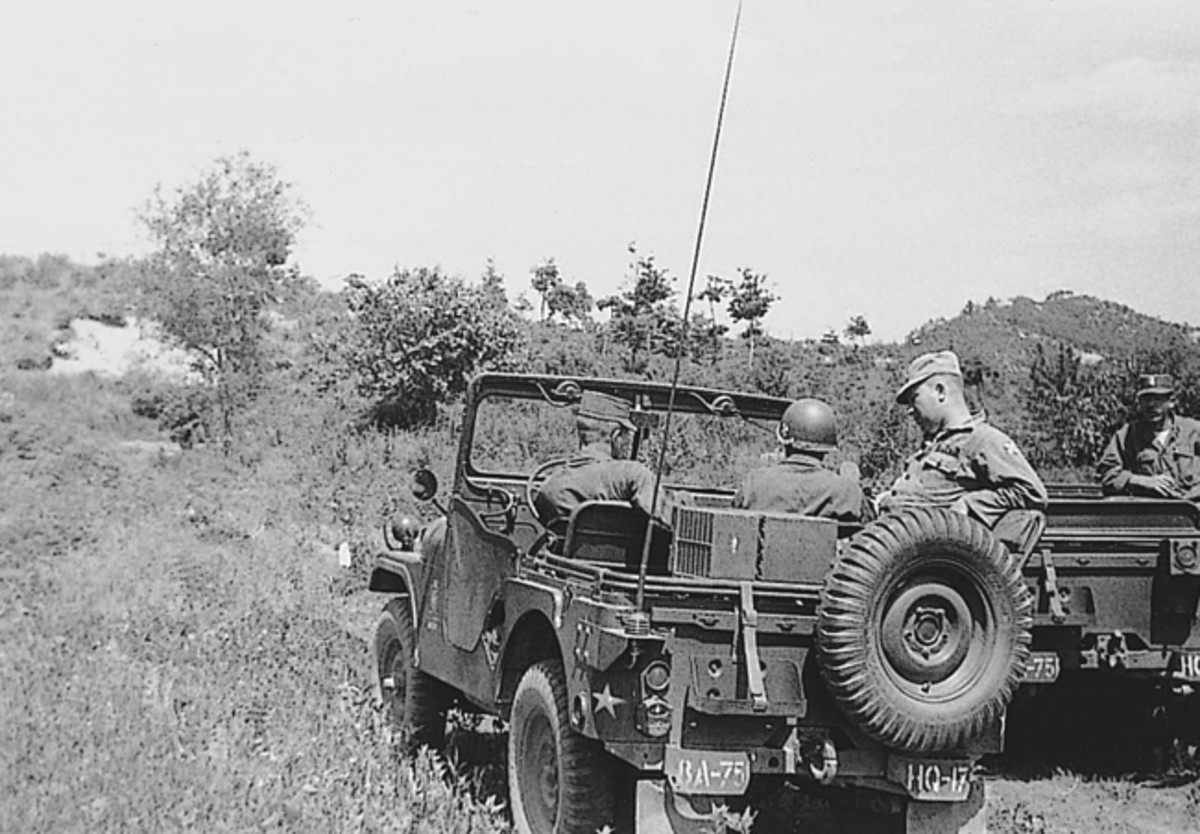 Two M38A1s from Schramm's unit in Korea.