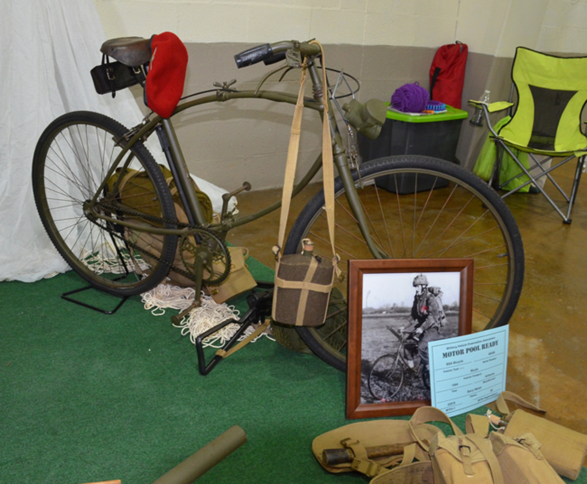Motor Pool Class Gold Award - Barry Welsh's 1944 BSA Bicycle Airborne.
