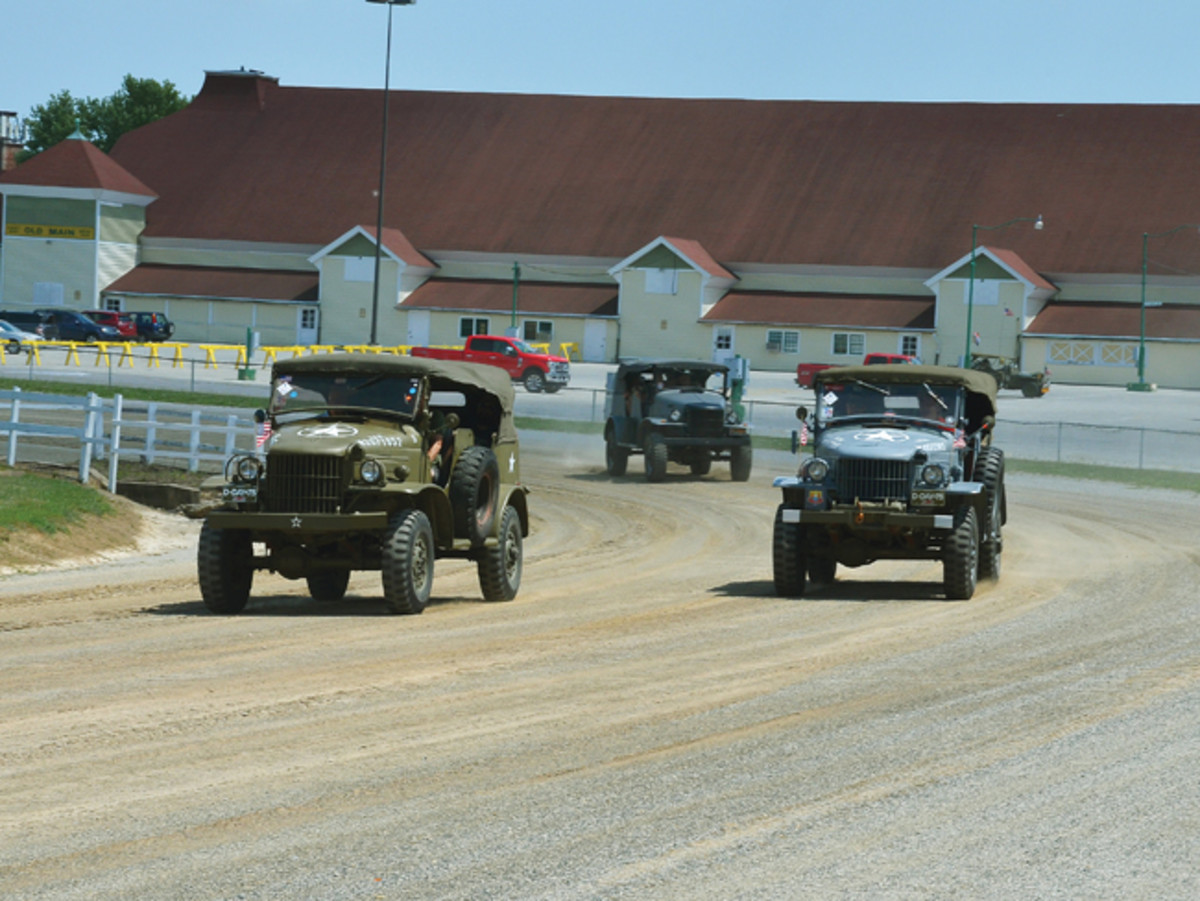 "With tanks driving, trucks racing, and flame throwers flaming, the 2019 MVPA Convention had plenty of ""history in motion"" this past August. One of the new activities at this year's Convention was the historic military vehicle (HMV) race held in the arena around the near half-mile dirt track."