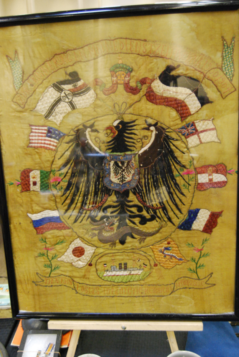 "A Boxer Rebellion era German banner shows how for a brief period the ""Great Powers"" found common cause in China."
