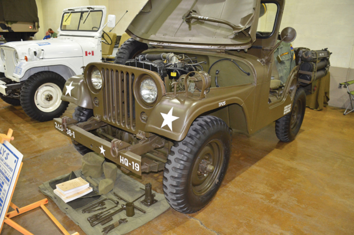 Motor Pool Veteran's Class Award - Andy Tally's 1952 Willys-Overland M38A1D.