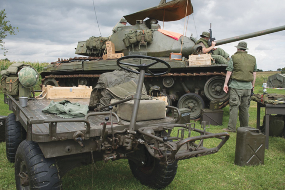 Ben Connor's Mule in a recreated resupply role to an ARVN M41 Walker Bulldog.