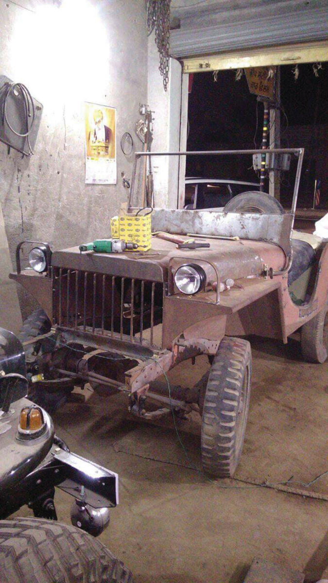 Harmandeep Singh shared this image of a Willys MA undergoing restoration.