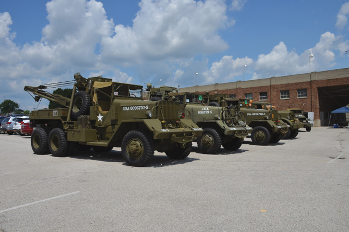 This year's convention featured several 6-wheeled heavy trucks like these Ward La France wreckers. Overall, there seemed to be more WWII vehicles on display than in recent years.