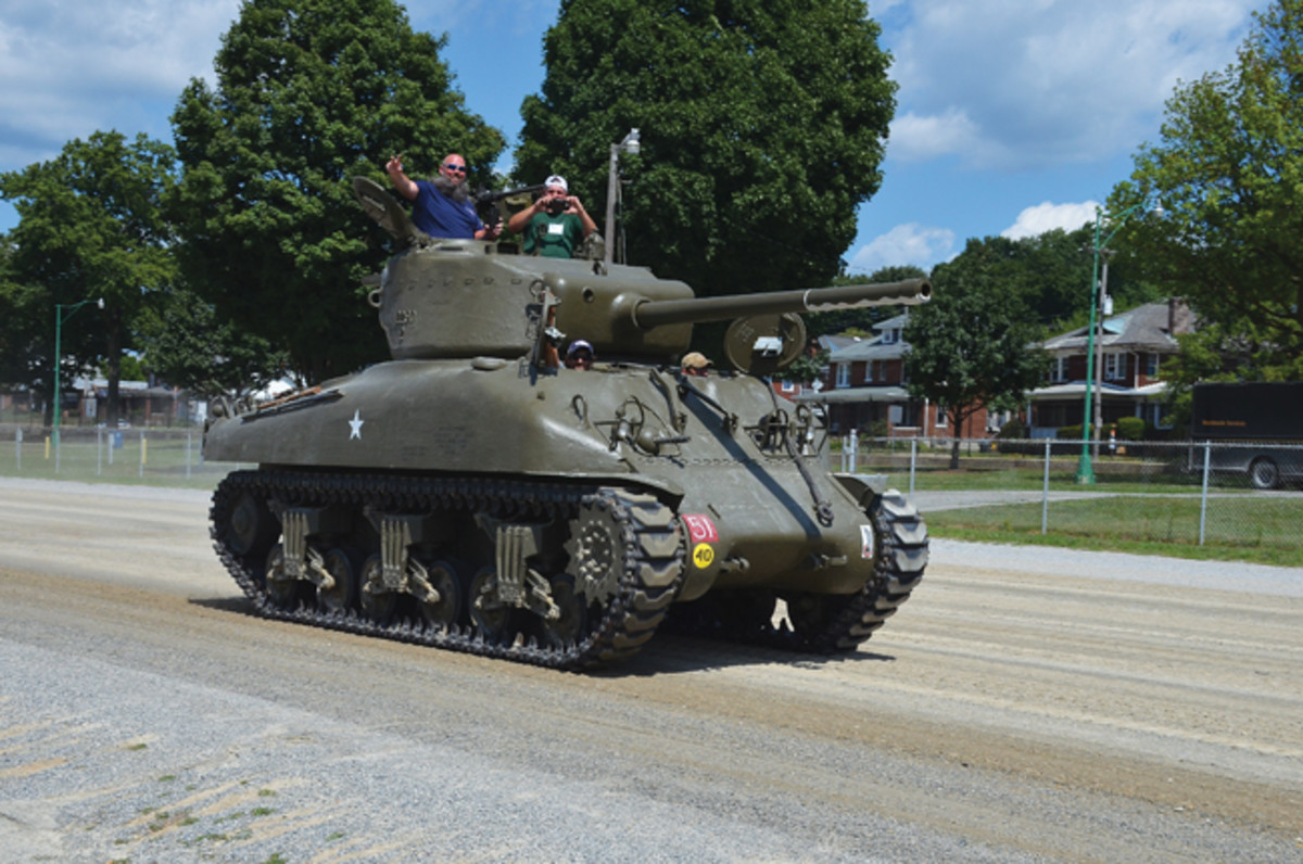 The arena was put to good use with a number of running tanks, including the Wheels of Liberation (WoL) M4A1 Sherman.