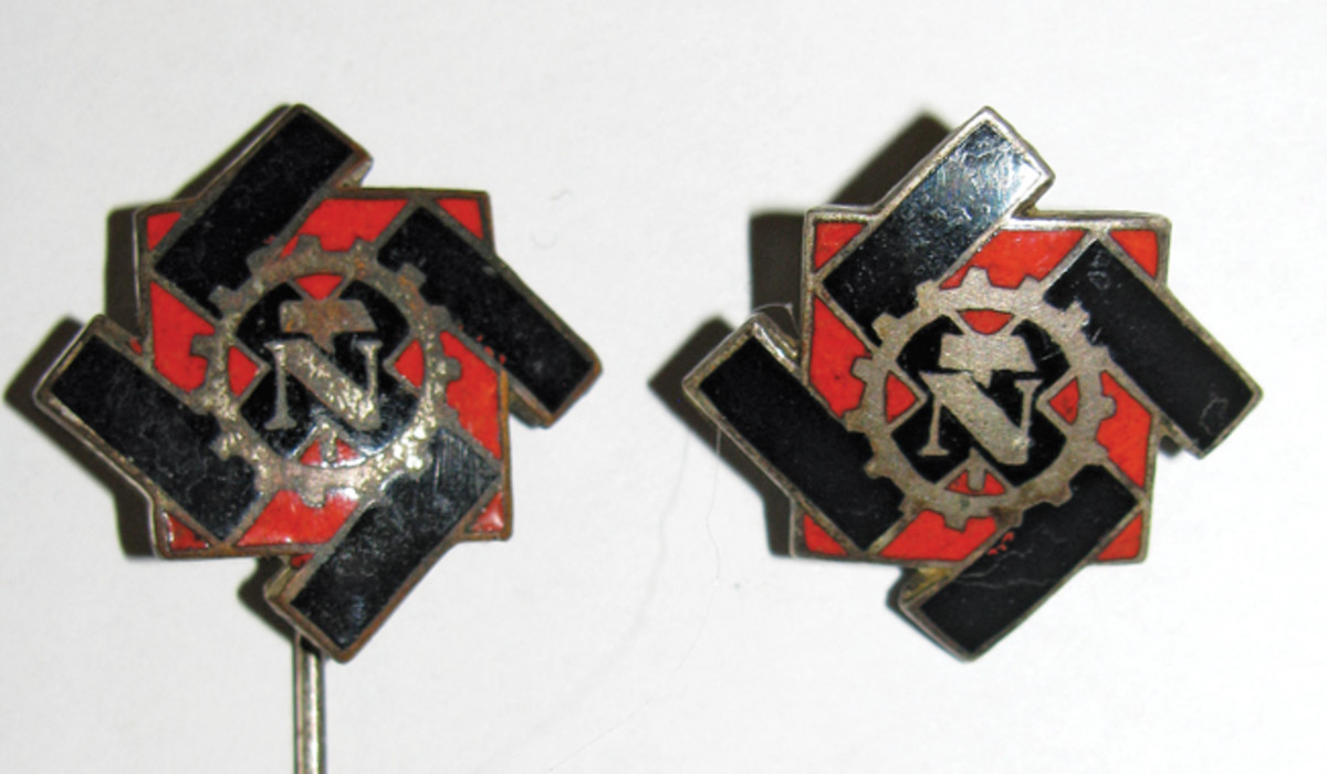 TENO membership pins contained detailed enamel work, and came in either stickpins or pin backs. The reverse of each contained the member's serial number.