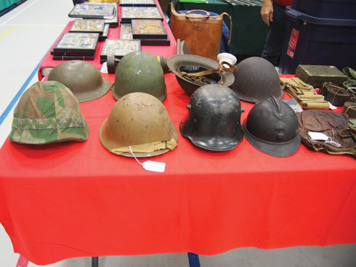 Anywhere in the world, you're bound to see tables full of military helmets — Toronto is no exception.