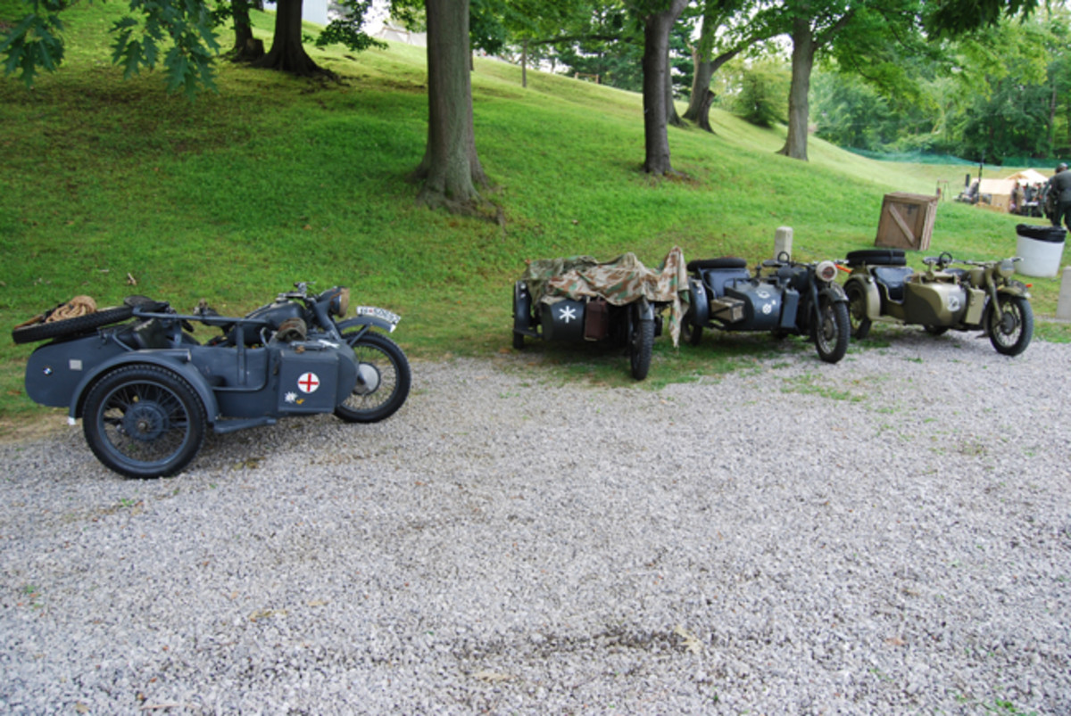 There were no shortage of German motorcycles and sidecars at D-Day Conneaut this year.