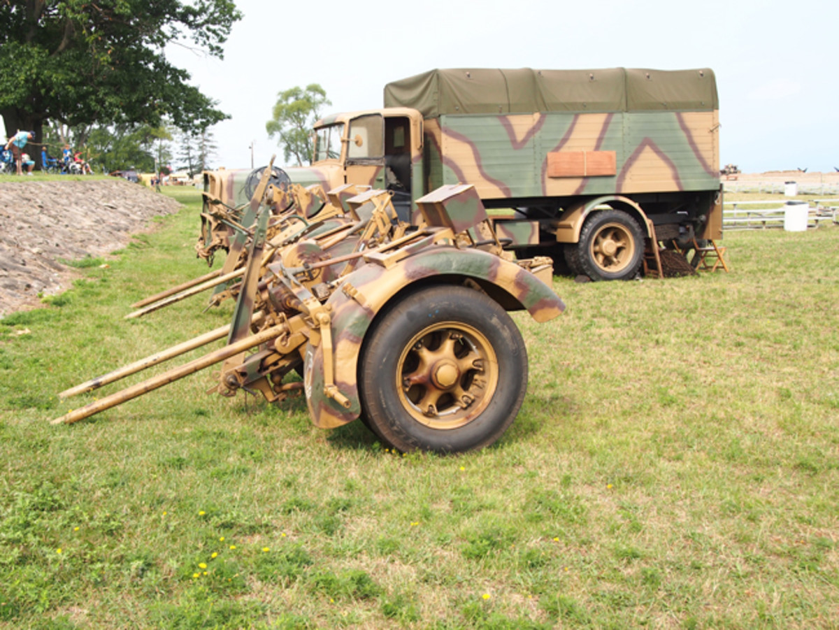 There was no shortage of properly camouflaged German softskin vehicles and accessories.