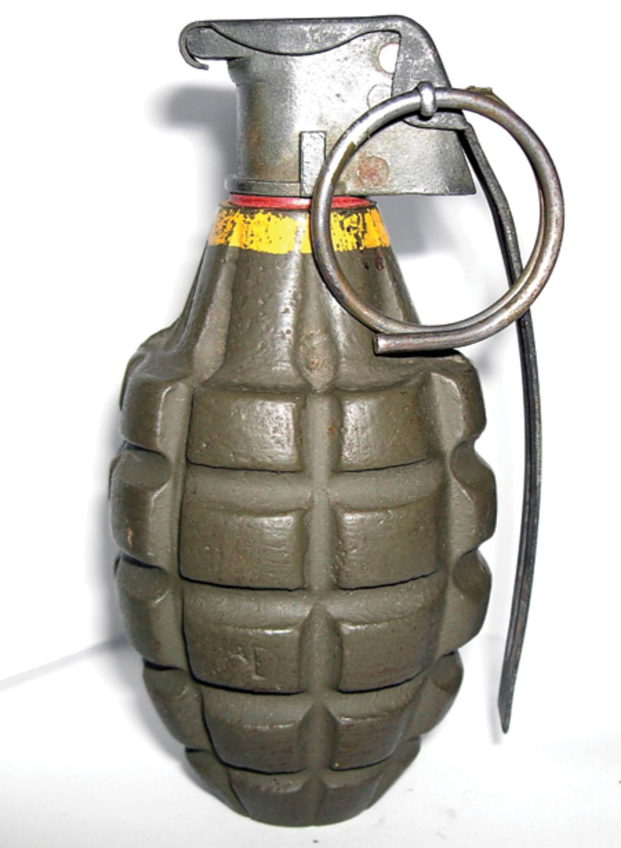 The Mk 2 grenade was a fragmentation type anti-personnel hand grenade introduced to U.S. troops in 1918. It remained the standard issue anti-personnel grenade through World War II and in later conflicts, including the Vietnam War when it was replaced by the M26 grenade.