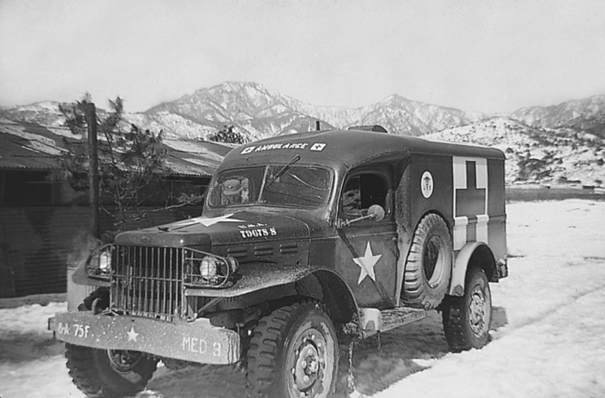 WC-54 ambulance, Korea, 1951.