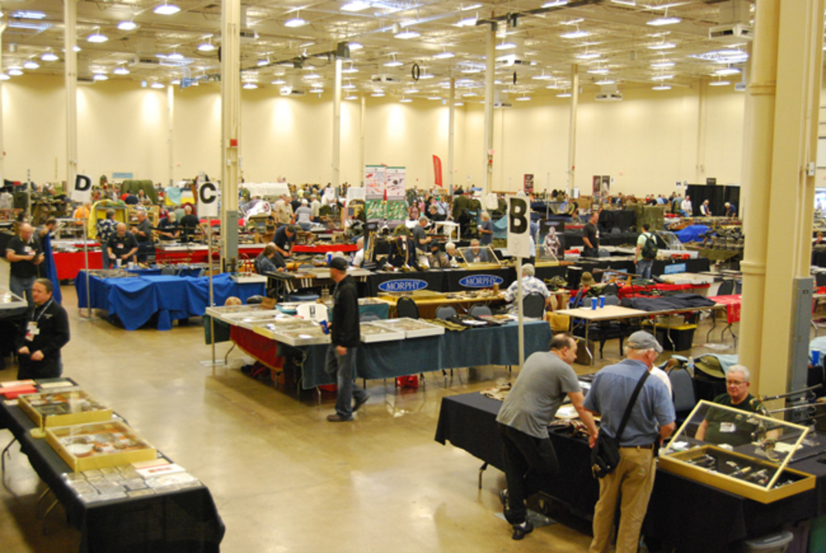 "The large ""trade show"" style hall of the MAX on Friday morning."