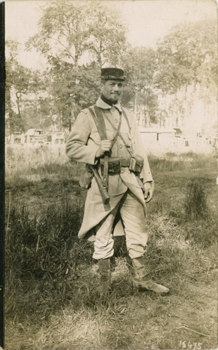 June 13, 1915-dated photo of a French soldier that he sent to his girlfriend who was then living in Paris.