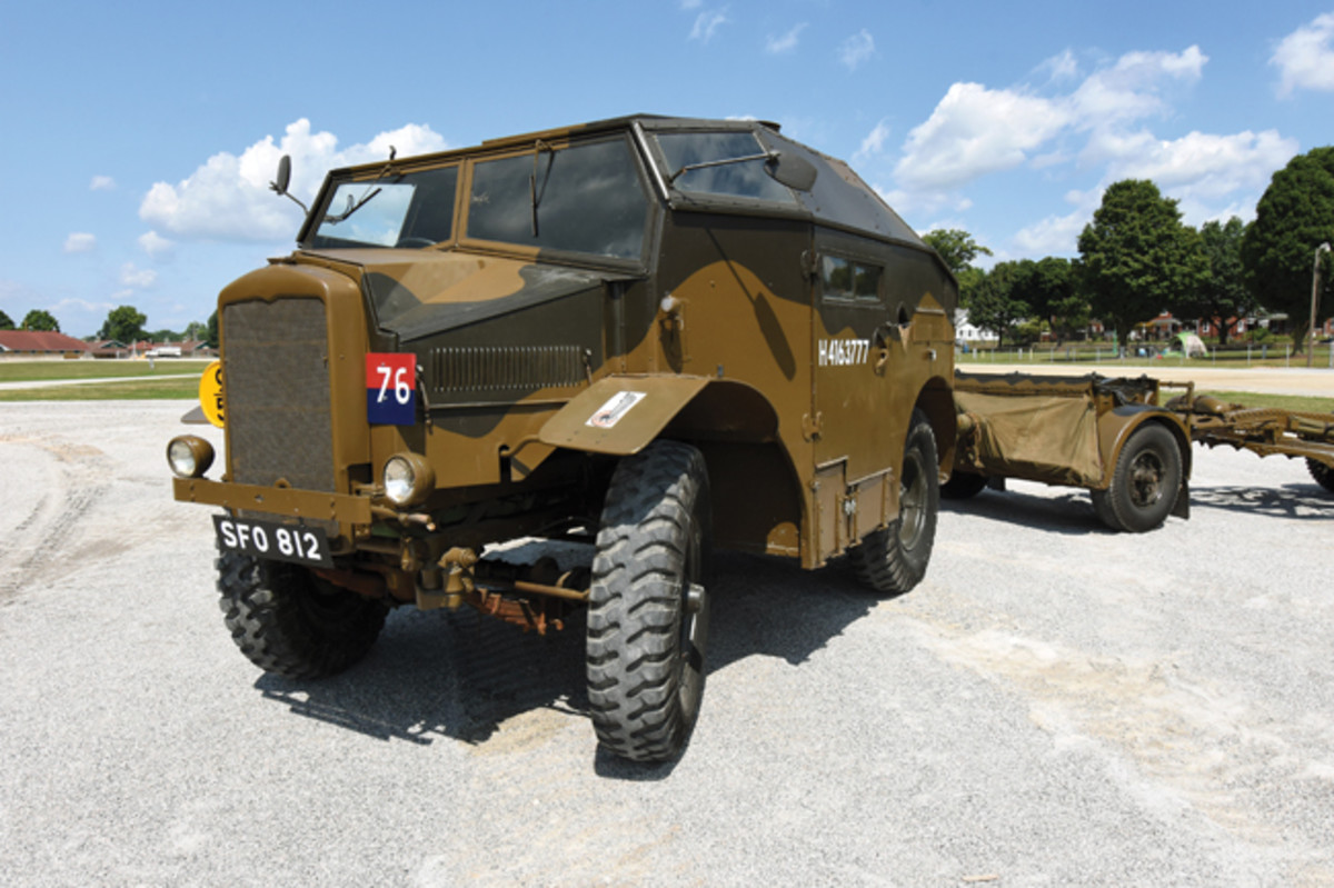 For fans of British trucks, the Wheels of Liberation group even brought an AEC Matador, and this Morris Commercial Quad.