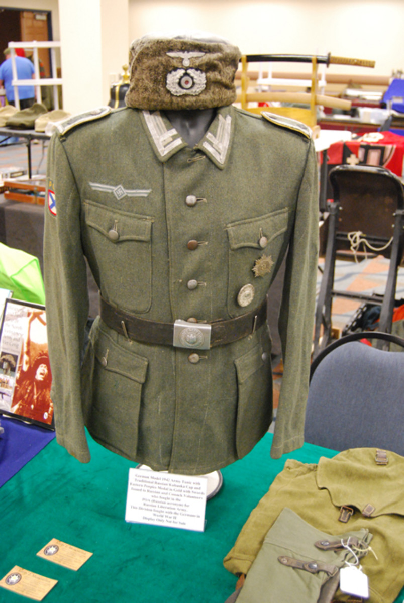 One of the show's standout pieces wasn't for sale – a tunic and cap of the Russian Liberation Army (POA), which in 1944 became known as the Armed Forces of the Committee for the Liberation of the Peoples of Russia.