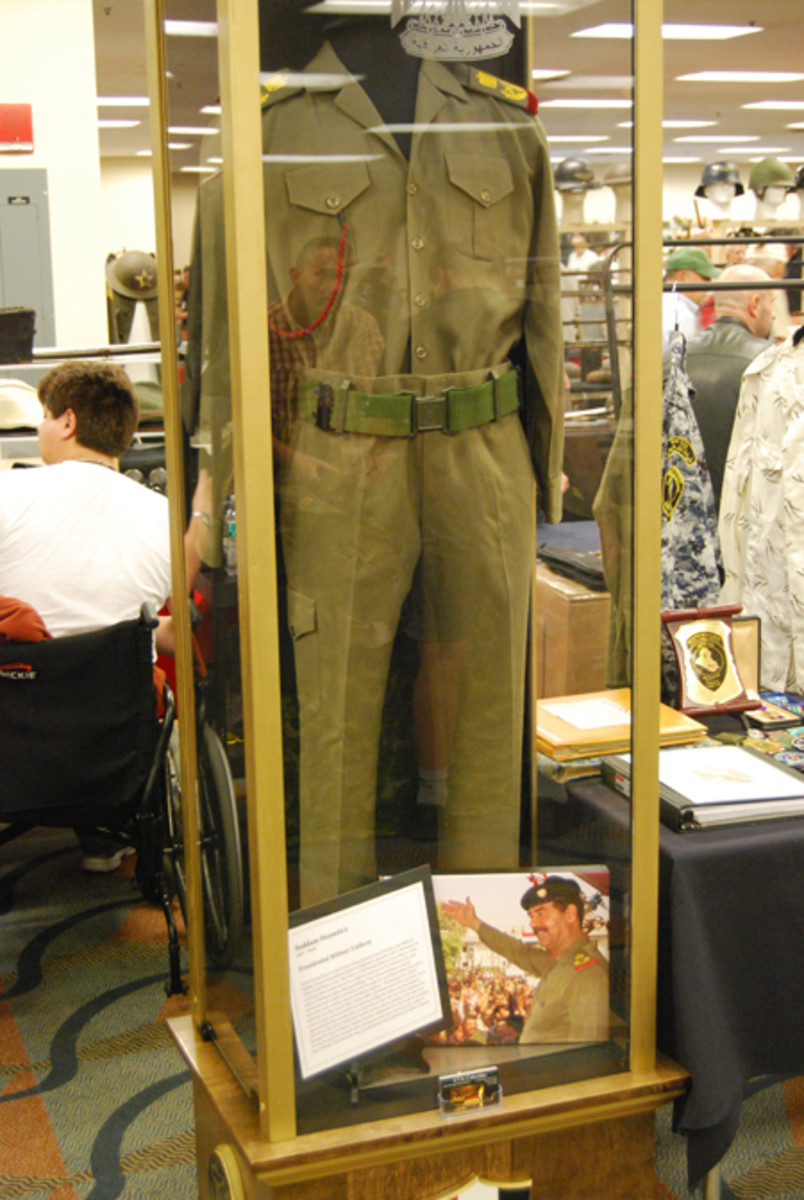 A Presidential Military Uniform that was once worn by Iraqi dictator Saddam Hussein was on display this year!