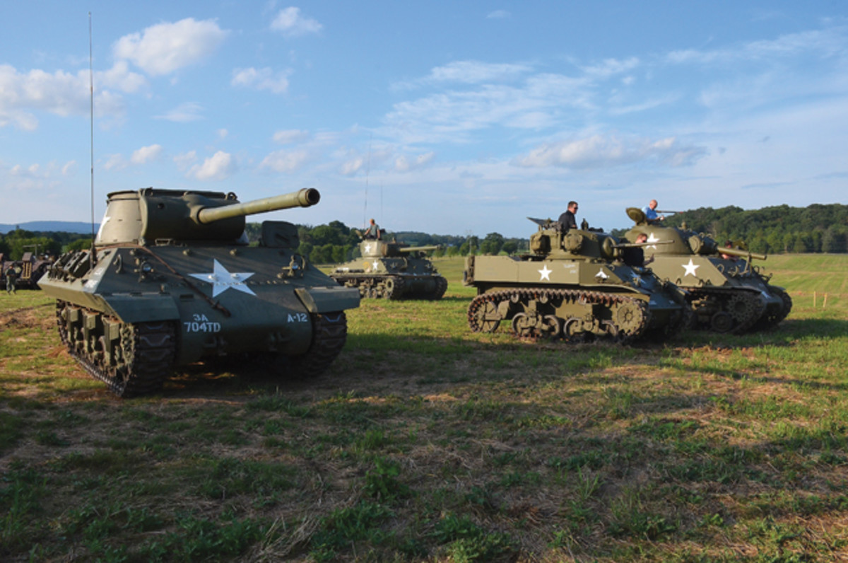 The Buck BBQ featured a number of his tanks including an M36 Jackson, M5A1 Stuart, M4A2E8 Sherman and a 105mm Sherman, which drove around the property.