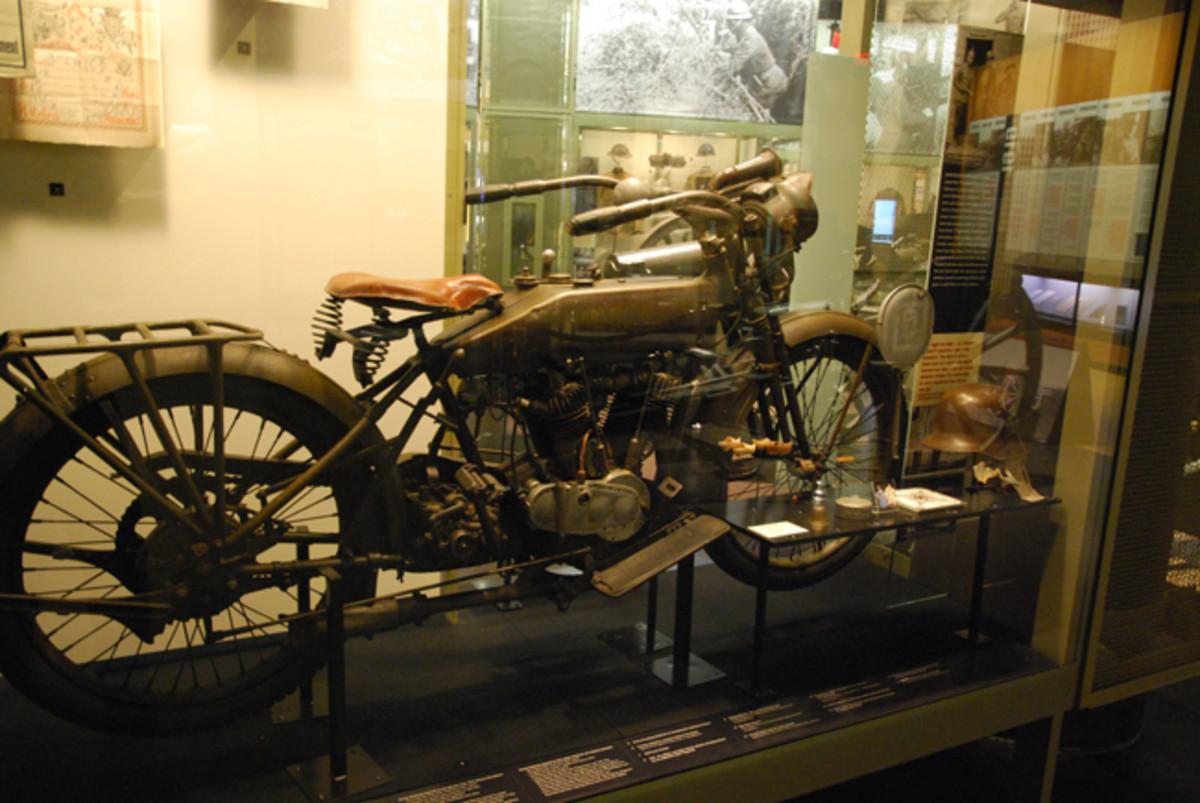 A rare World War I-era American motorcycle.