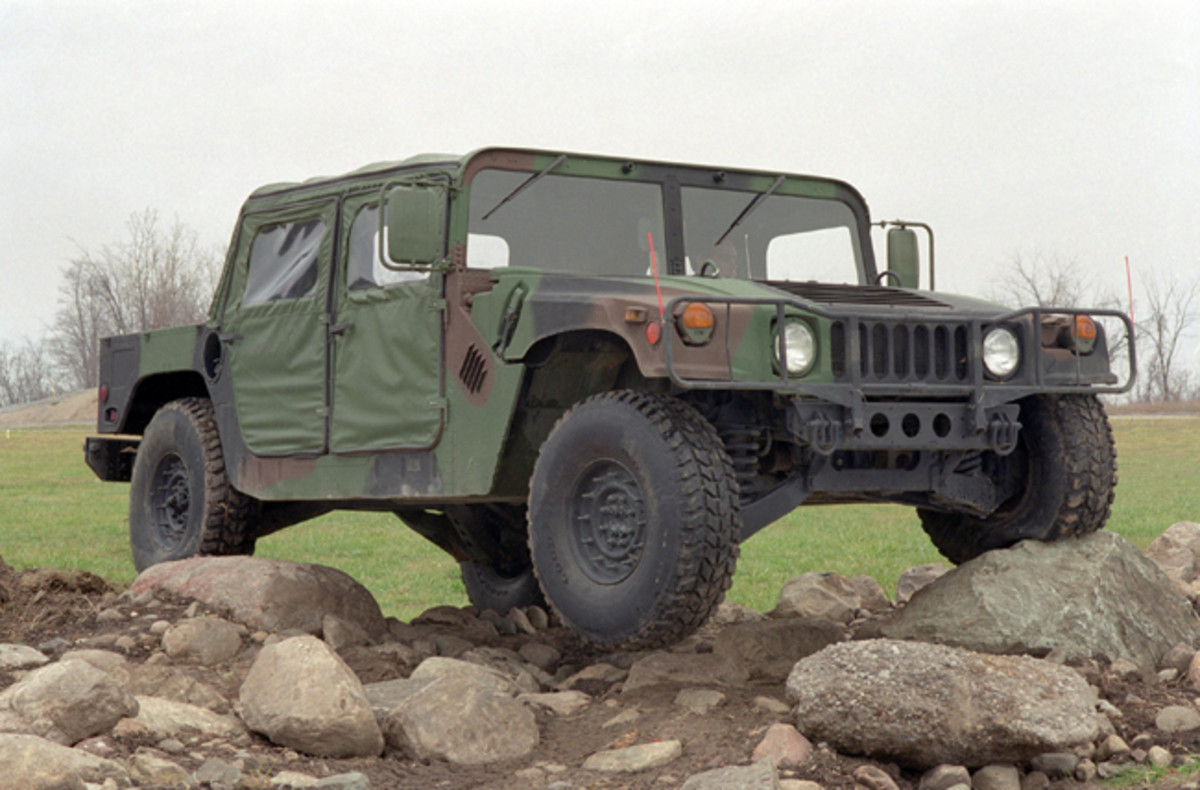 As originally specified, the HMMWV – as typified by the M998 – was an unarmored tactical utility vehicle delivering outstanding off-road performance. A few variants were built with light armor and weapons mounting, but they were the exception rather than the rule. Photo courtesy of AM General