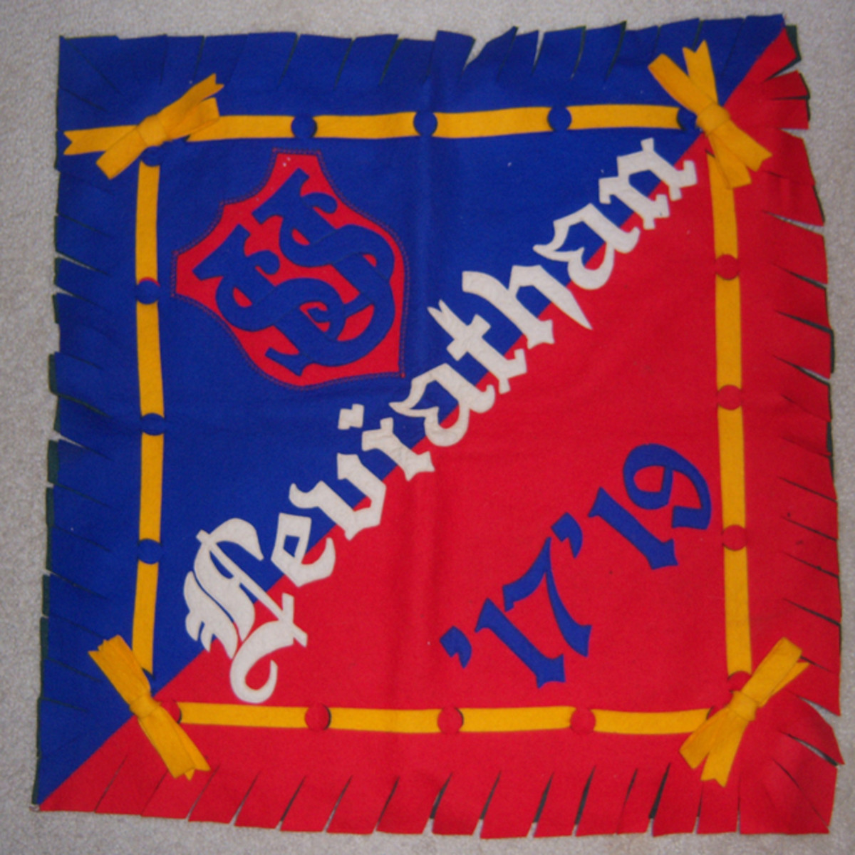 And what's an AEF or US Navy collection without one of the popular pillow case/covers? This brightly colored example for the USS Leviathan was probably a souvenir from one of the sailors of the crew. Reportedly, the famous actor Humphrey Bogart served on the Leviathan during the war.