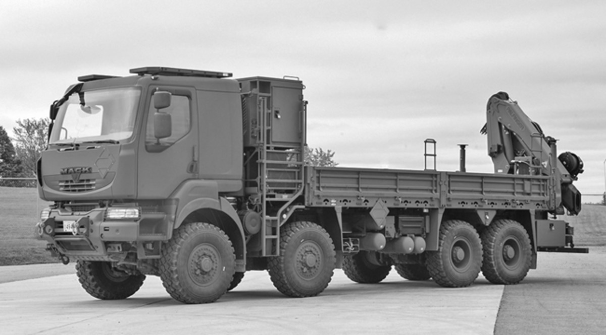 These new trucks will provide lift and logistical support on the ground and will transport equipment and supplies for Canada's military.