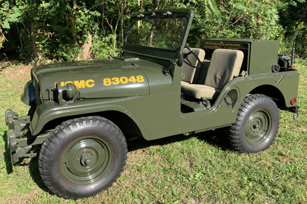 U.S. Marine Corps Kaiser Model M38A1 'radio' Jeep, 1964 date of delivery, numerous upgrades, comes with SN39 command radio. Image courtesy of Milestone Auctions