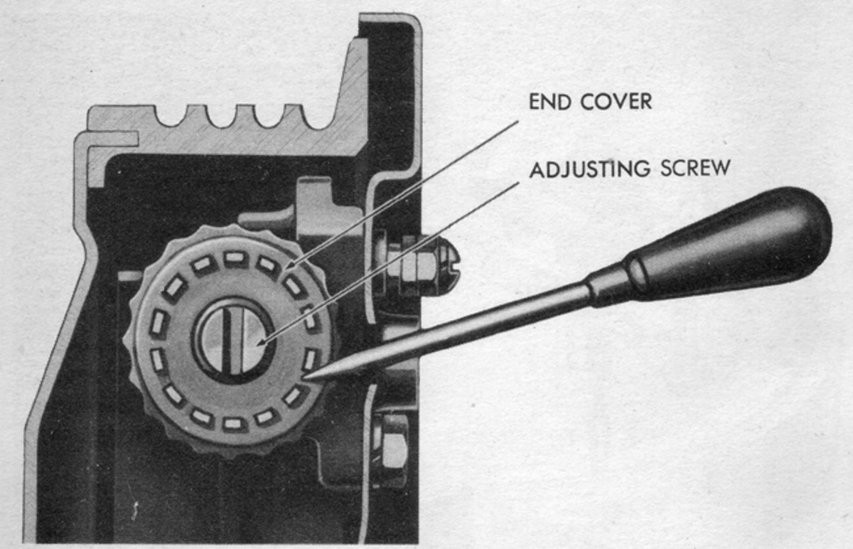 """Typical """"star-wheel"""" brake shoe adjuster. This type may be used for either individual shoe adjustment or may be constructed to adjust both shoes simultaneously... generally on small vehicles. While a screwdriver will usually suffice, having a brake adjusting """"spoon"""" often makes the job easier."""