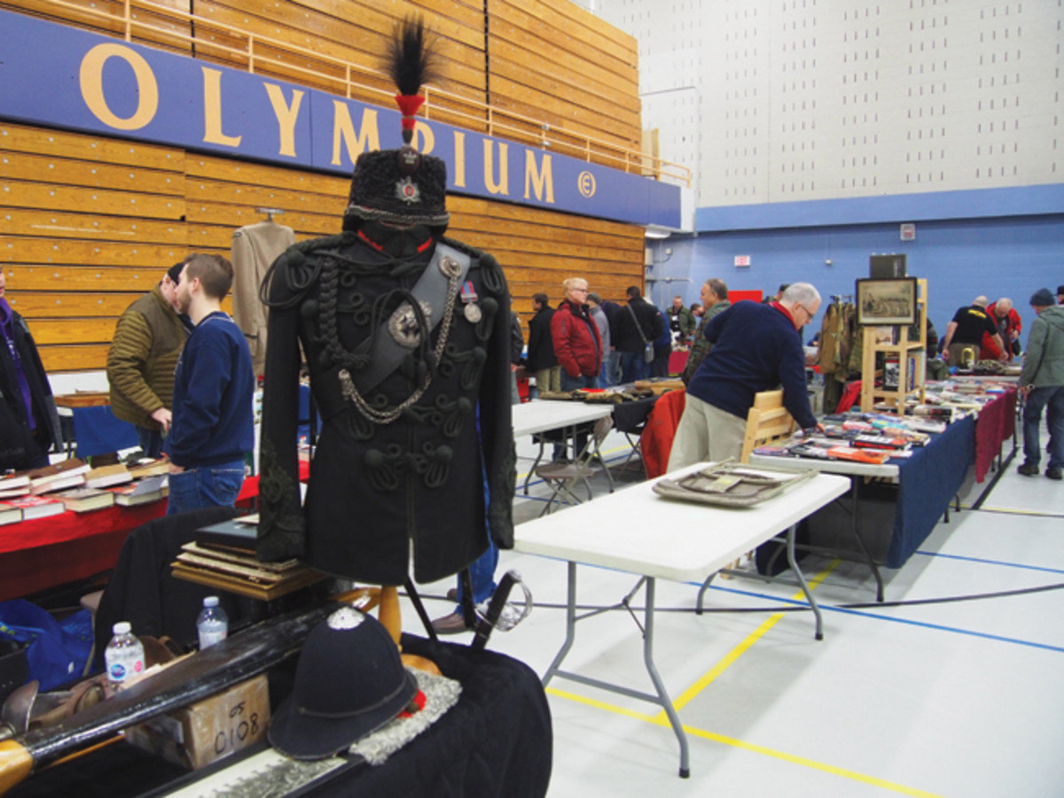 With more than 150 tables there is a lot to take in at the Toronto Military Shows.