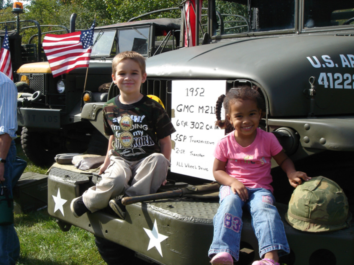 Just because it's at a brewery doesn't mean it's only for adults. Kids (and adults, although they won't admit it) love to climb on military vehicles.