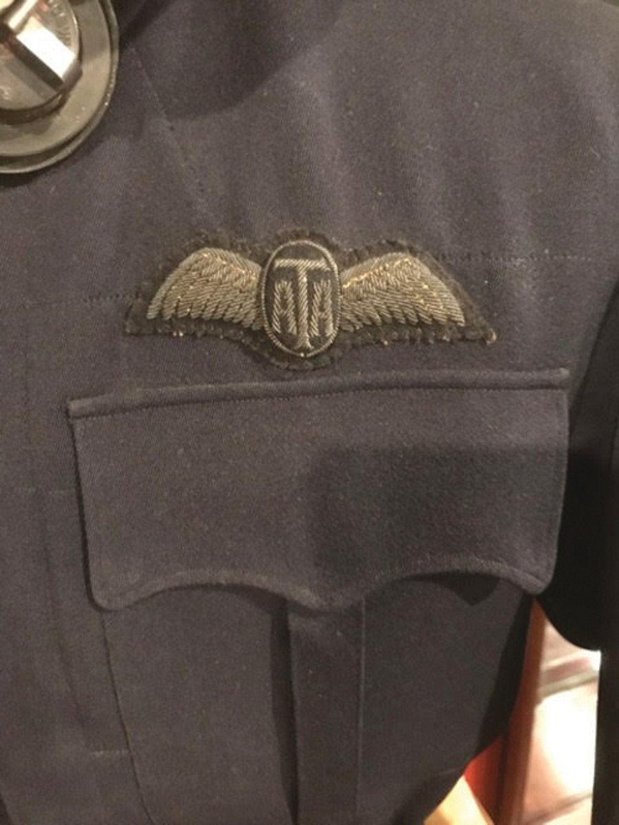 The ATA wings on Story's jacket are finely embroidered and padded.