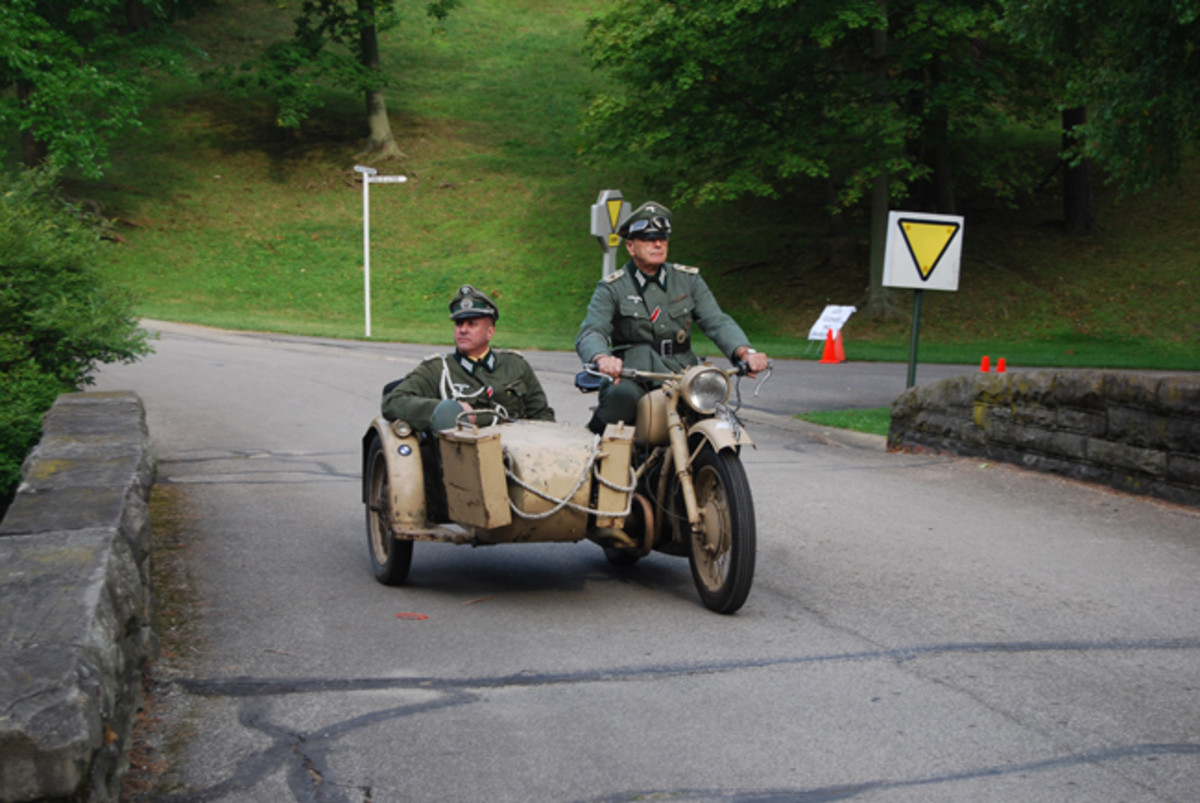 A common sight at D-Day Conneaut was German officers in the sidecar!