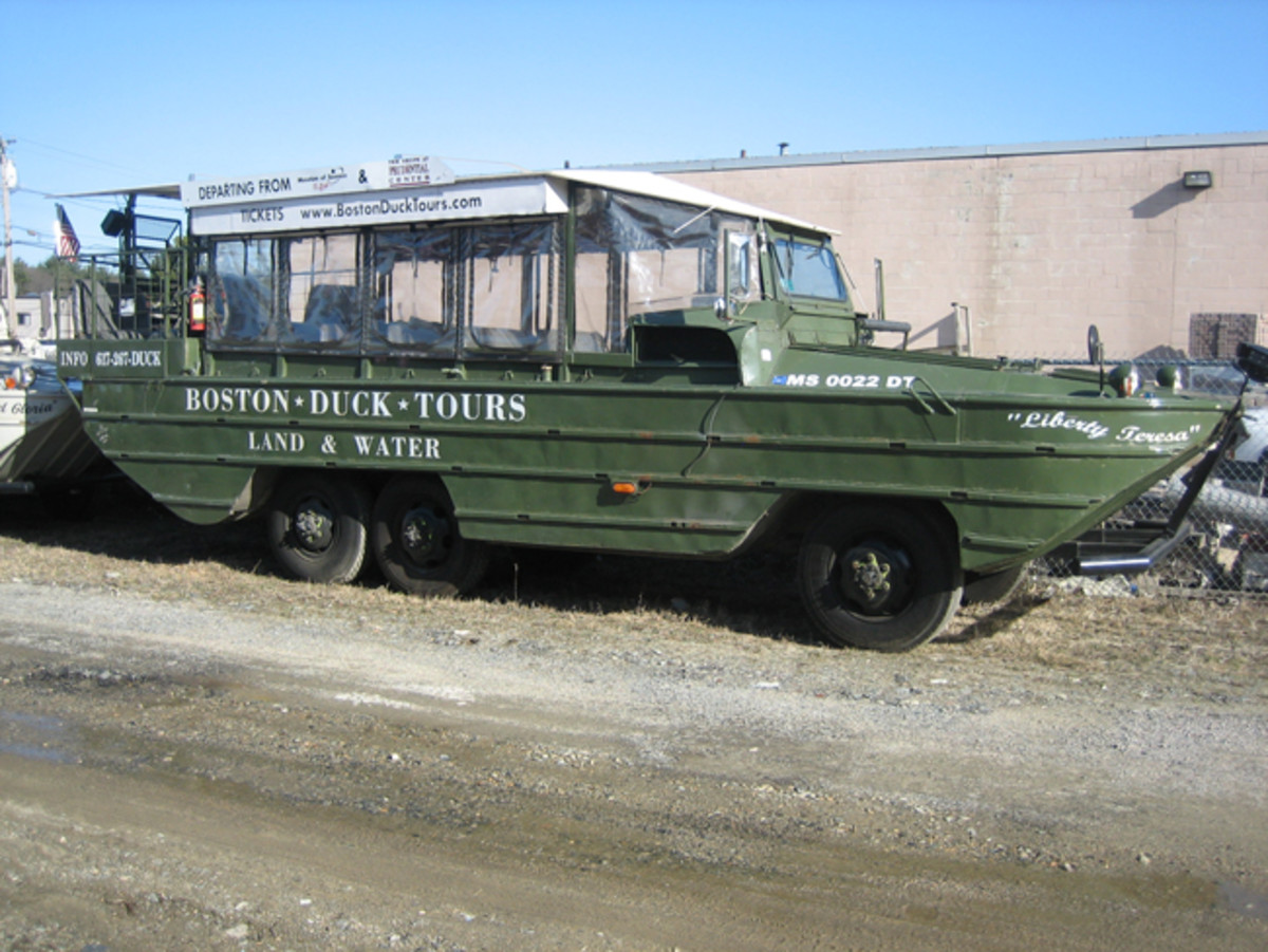 One of the four retired Boston Duck Tour DUKWs currently for sale to a private collector only.