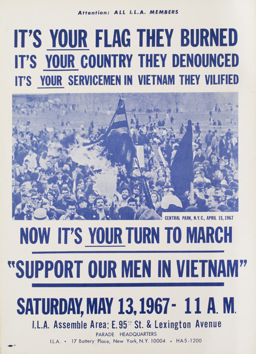 Support Our Men poster, 1967.
