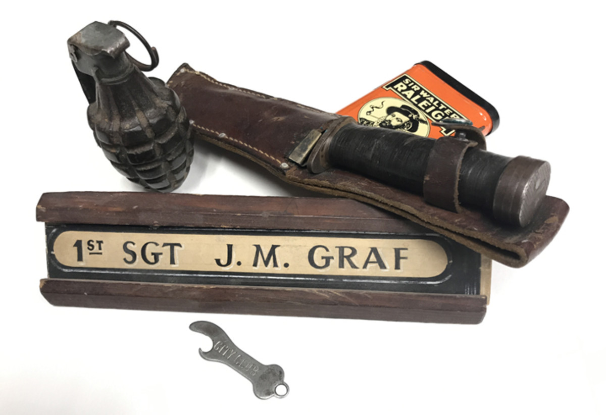 "Dad's military ""bring backs"" weren't all associated with his service. Some he picked up on the way home, and some items just got lumped into his military ""grouping"" over the years.  Provenance is much more than just proximity to other items."